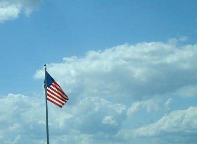 Flag in the sky.