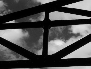 Lattice against the sky.