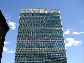 The United Nations building in Manhattan.